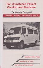 TEMPO TRAVELLER AMBULANCE 1995 MERCEDES AMBULANCE FROM INDIA BROCHURE PROSPEKT