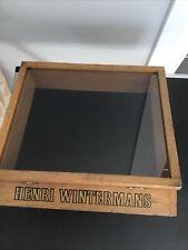 More details for vintage henri wintermans glass fronted display case/ box
