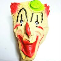 1950s Topstone Rubber Toys Halloween Mask Bethel Vintage Creepy Clown Rare HTF