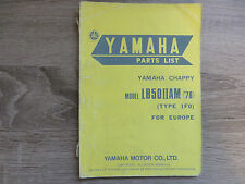Yamaha parts list spare catalog Chappy lb50iiam Type 1F0 Explosive Drawing