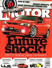 Motor January 2009: WRX v Ralliart. Performance Car 2008. Nismo GT-R. Lexus IS-F