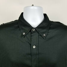 Ralph Lauren Black Mens Dress Button Shirt Fine Cotton Size XL