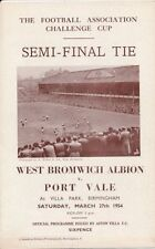 FA Cup Teams O-R Port Vale Final Football Programmes