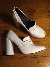 ASOS White Block Heels Retro Vintage Lacquered Size 6(EUR 39)