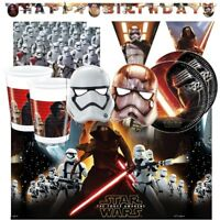Star Wars Ep7 Party Supplies Tableware, Decorations, Balloons, Invites, Bags