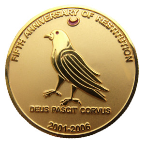 SOVEREIGN BARONY OF CAUX - ENGLAND - 1 DOLLAR 2006 BIRD AND RED MOON 40mm UNC