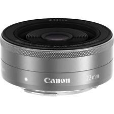 Canon EF-M 22mm f/2.0 STM Pancake Lens for EOS M - Silver - Bulk Pack QQ