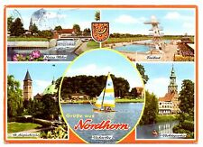 Nordhorn Postcard Freibad St Augustinus Neues Wehr Vechtepartie Germany 1979