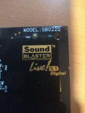 Lote de 2 tarjetas sonido pci Creative sound blaster live 5.1 y 5.1 digital