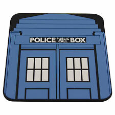 VINTAGE POLICE BOX TARDIS COASTER - Dr Who Doctor Who Style Sci Fi - DRINK MAT