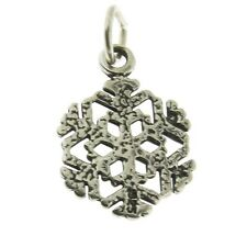 925 Sterling Silver Snowflake Charm Made in USA