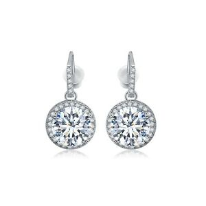 Sparkling Crystal Cubic Zirconia Drop Earrings  USA Seller   Free Fast Shipping