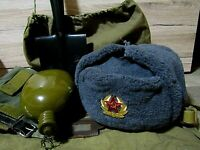 Soviet Army hat USSR badge authentic military soldier hat headpiece size-56 (7)