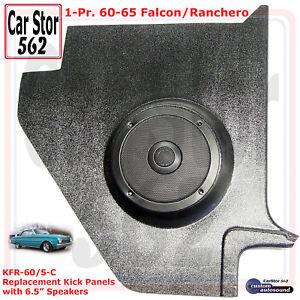 "Custom Autosound KFR-60/5-COM Kick Panels&6.5"" Speakers 60-65 Falcon/Ranchero"