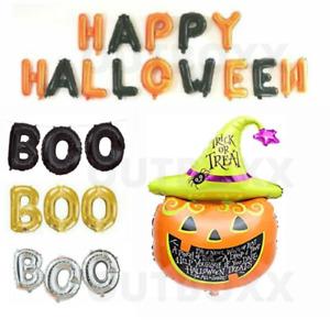 Happy Halloween Foil Balloons Pumpkin Party Decorations Trick treat spooky BOO