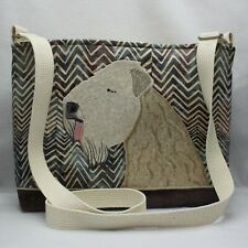 Soft Coated Wheaten Terrier Breed Dog Handmade Stitched Purse Bag Shoulder