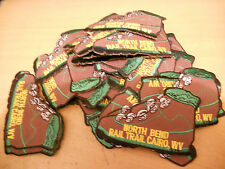 LOT OF 46-NORTH BEND STATE PARK RAIL TRAIL-CAIRO WEST VIRGINIA PATCHeS 3 1/2 x2