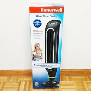 Honeywell Fresh Breeze Tower Fan with Remote Control HYF048 Black - New & Sealed