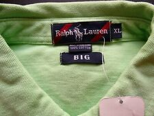RALPH LAUREN POLO BIG SOLID LIME 100% COTTON SS CLASSIC POLO SHIRT SIZE: XL NWT