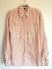 Polo Ralph Lauren Long Sleeve 100% Linen Striped Button Up Shirt Size L Men's A1