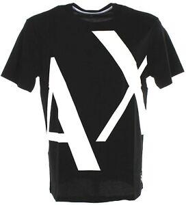 A|X Armani Exchange Men's Regular Fit Billboard Crewneck Cotton T Shirt Black Sm