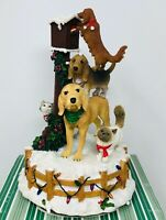 San Francisco Music Box Dogs & Cats Sending Christmas Cards Figurine