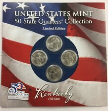 2001 Statehood Quarters  ~ KENTUCKY  2 EACH P&D TOTAL 4 Quarters