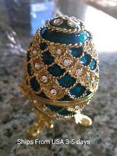 New listing Lovely Metal Enamel Faberge Egg