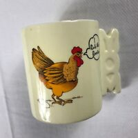 I Rule The Rooster Coffee Mug VTG Cup Mom Handle Chicken Farm Animal Gift Funny