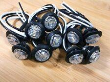 10 BBT 12 volt Waterproof White LED Push-In Landscape Accent Lights