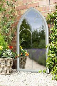 Pagoda Richmond Garden Decorative Mirror Weather Resistant E Coated Steel Frame