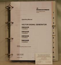 Rohde & Schwarz smiq 02B Generador de señales vectoriales volumen 2 manual de operación