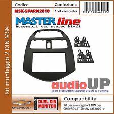 MASCHERINA AUTORADIO 2 DIN PER CHEVROLET SPARK DAL 2010-> KIT DOPPIO DIN
