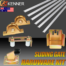 KENNER Sliding Gate Hardware Kit Track Wheels Stopper Roller Guide Opener