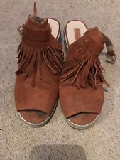 Topshop Brown Slingback Mules Shoes Size 6