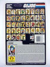 GI JOE COBRA VIPER FILE CARD Vintage Figure FULL / UNCUT / AWESOME SHAPE 1986