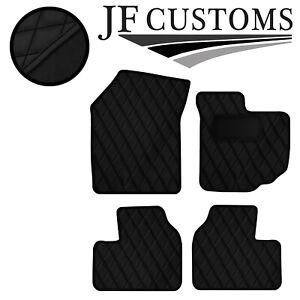 BLACK DIAMOND STITCH VINYL 4XTAILORED FLOOR CARPET FOR SUZUKI SWIFT 05-10 JF1