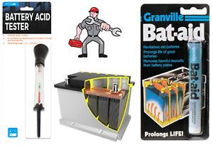Simply BT001 Car Battery Acid Tester Hydrometer & Granville Bat Aid Tablets