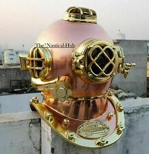 Antique Diving Helmet Maritime U.S Navy Mark V Scuba Boston Divers Helmet Gift