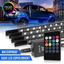 1 Set RGB 48 LED Strip Under Car Tube Underglow Underbody System Neon Light Kit