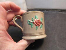 antique cup applied flower