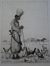 Pierre Teyssonnières (1834-1912) RARE GRAVURE MAMELUCK OTTOMAN TURKEY EGYPT ?