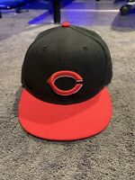 New Era Cincinnati Reds MLB Baseball 59 FIFTY Fitted Hat 6 3/4 On-Field Cap EUC