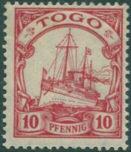 Togo german issues 1900 SGG9 10pf red Ship MH
