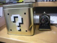 Nintendo Super Mario Bros Hatena Block Pocket Watch  Used Japan