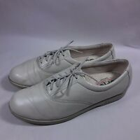 Women's SAS Comfort Lace-up Walking Shoes-Beige Leather-USA MADE-9 N
