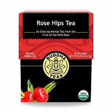 Rosehips Tea Organic Herbs, 18 Bleach Free Tea Bags