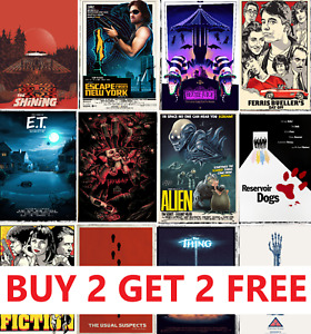 ALTERNATIVE MOVIE POSTERS Classic Greatest Cinema Room Decor Man Cave Wall Art