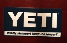 YETI Coolers Decal Sticker Authentic 4X2 Blue/White Original Yeti Coolers New