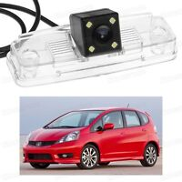 4 LED Car Rear View Camera Reverse Backup Parking CCD for Honda Fit 2008-2012
